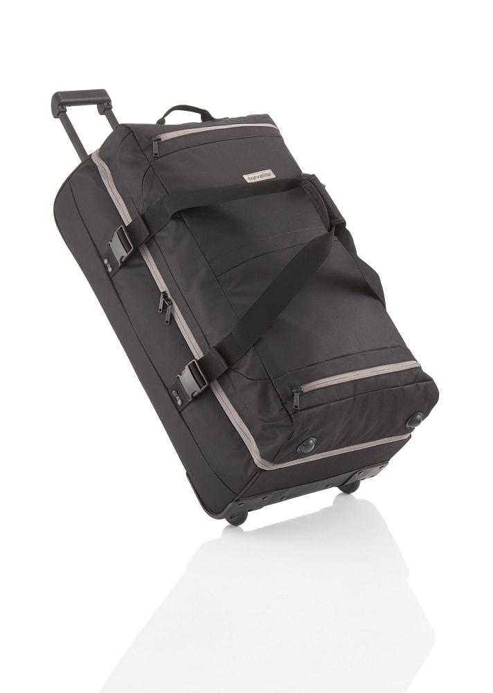 Travelite Cestovní taška na kolečkách Basics Doubledecker on wheels Black
