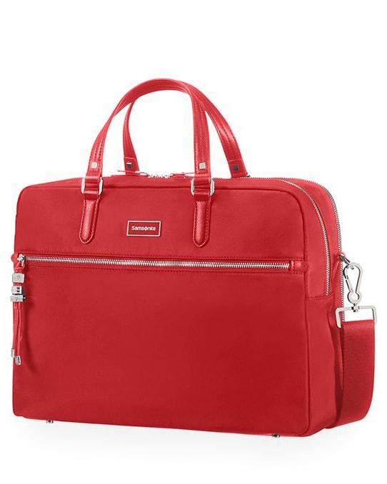 """Samsonite Dámská taška na notebook Bailhandle 2 Comp Karissa Biz 15.6"""" - červená"""