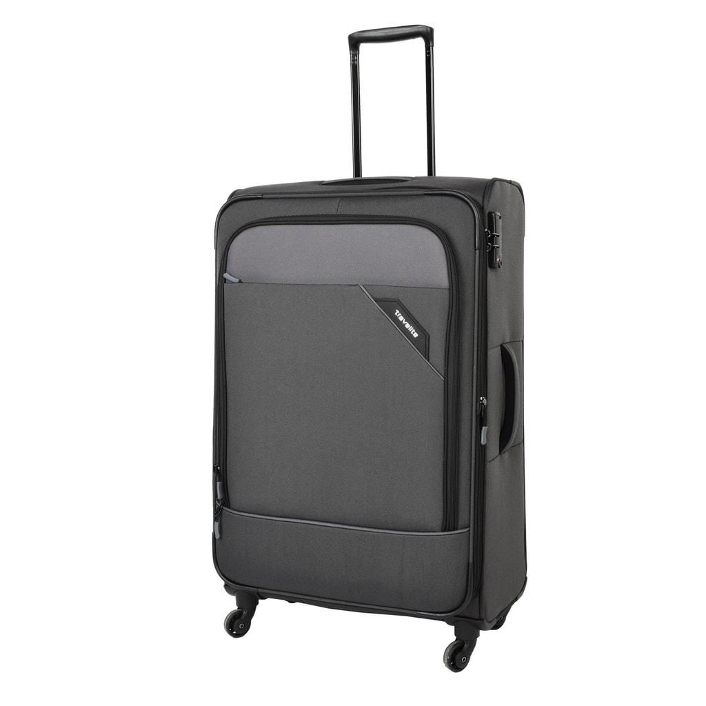 Travelite Cestovní kufr Derby 4w L Anthracite 87549-04 102/115 l