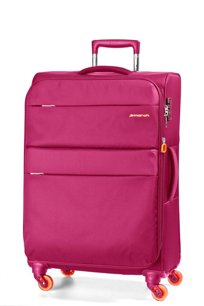 March Kabinový cestovní kufr Elle 34,5 l - růžová