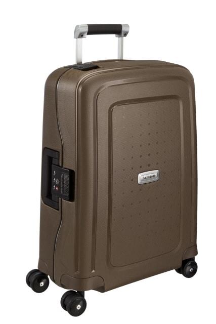 Samsonite Kabinový cestovní kufr S'Cure DLX Spinner U44 34 l - hnědá