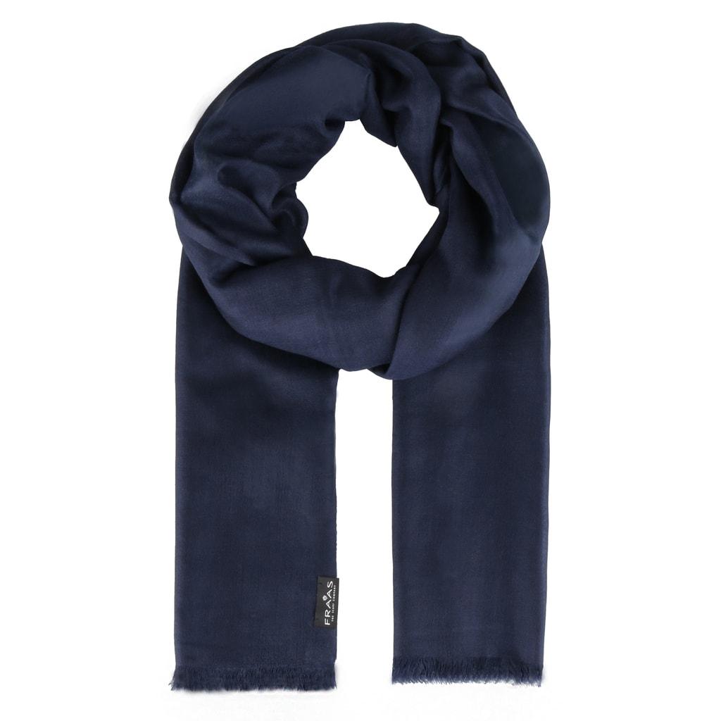 Fraas Dámský obdélníkový kašmírový šátek 658045 - tmavě modrá 4ef0d14e6a