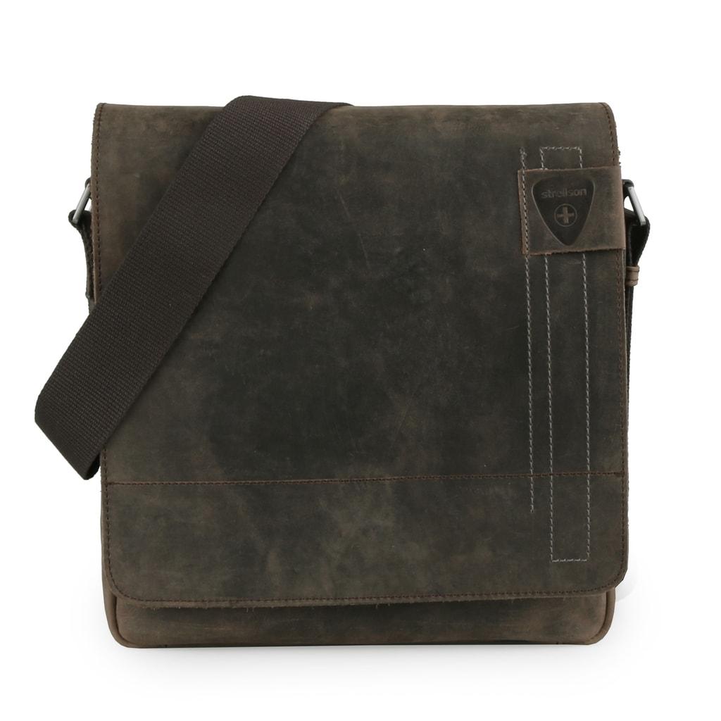 Strellson Pánská kožená taška přes rameno Richmond 1164 - hnědá