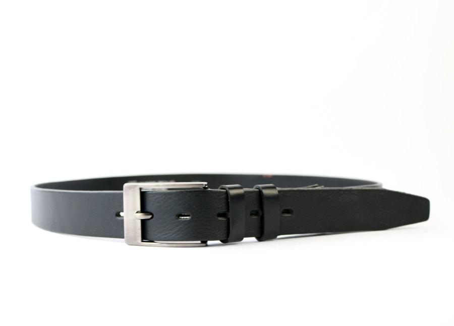 Penny Belts Pánský kožený opasek do obleku Penny Belts černý