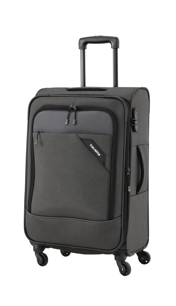 Travelite Cestovní kufr Derby 4w M Anthracite 87548-04 69/79 l