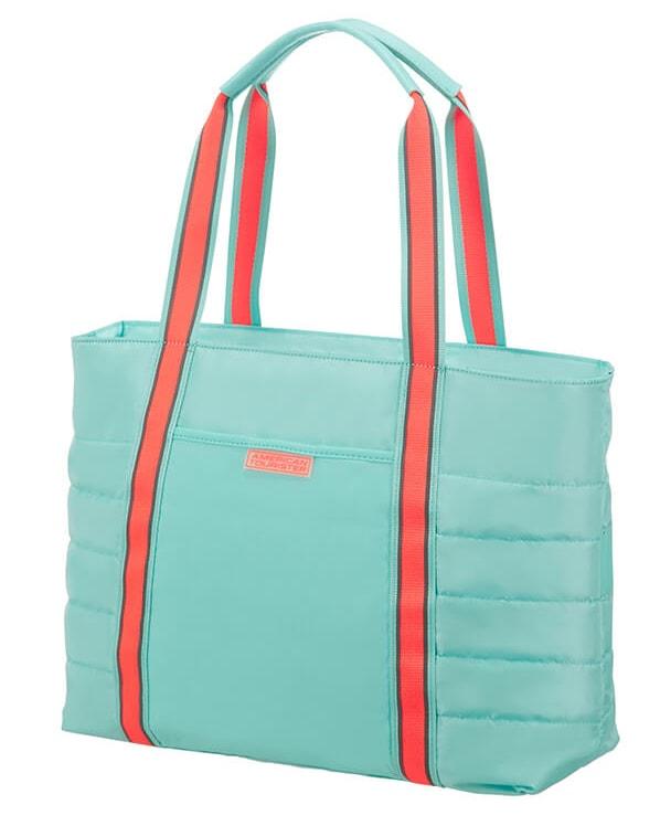 American Tourister Cestovní taška Uptown Vibes 64G 15,5 l 14.1'' - tyrkysová