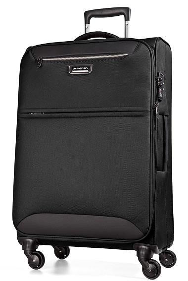 March Cestovní kufr Flybird 67/80 l - černá