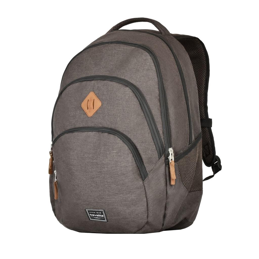 Travelite Městský batoh Basics Backpack Melange Brown 96308-60 22 l