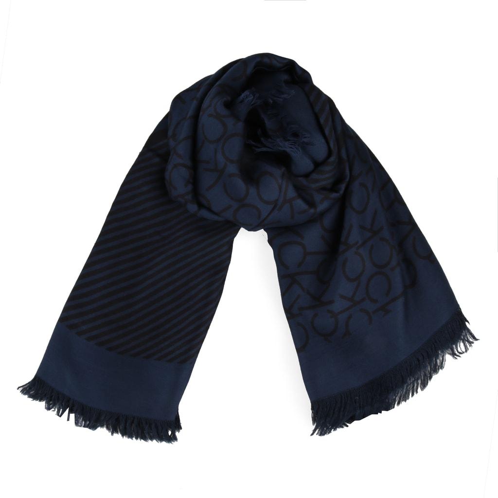 Calvin Klein Dámský čtvercový šátek Printed CK K60K604704 - černá d6251bd6496
