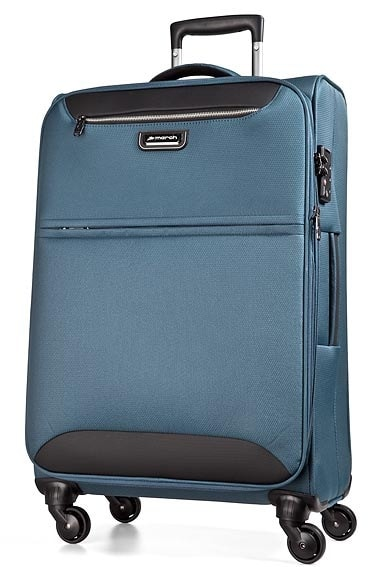 March Cestovní kufr Flybird 67/80 l - modrá