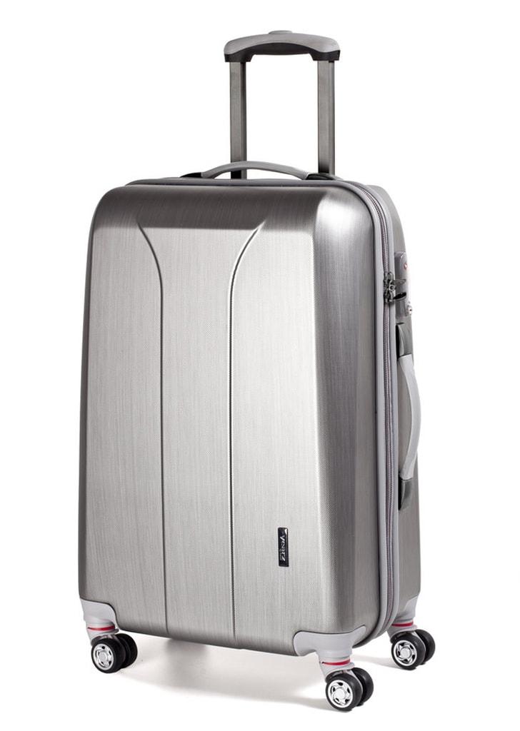 March Cestovní kufr New Carat 72 l - stříbrná