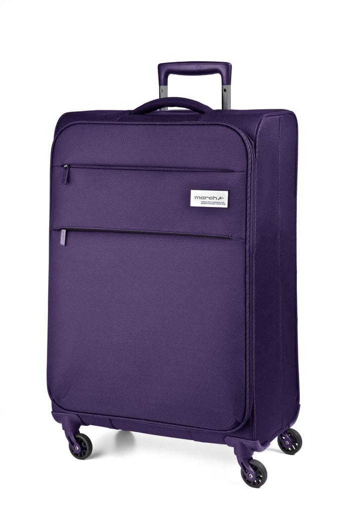 March Kabinový cestovní kufr Polo 34,5 l - fialová