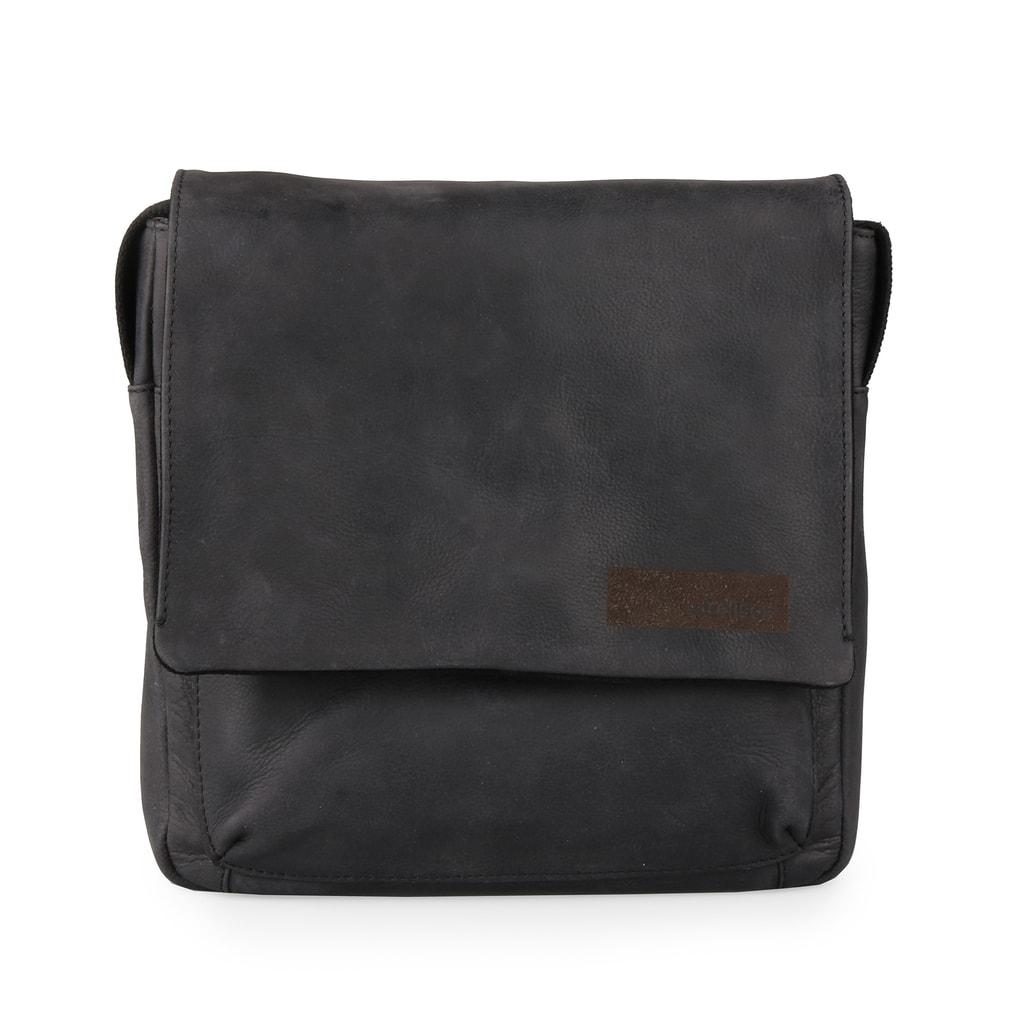 Strellson Pánská kožená taška přes rameno Goldhawk 4010002334 - černá