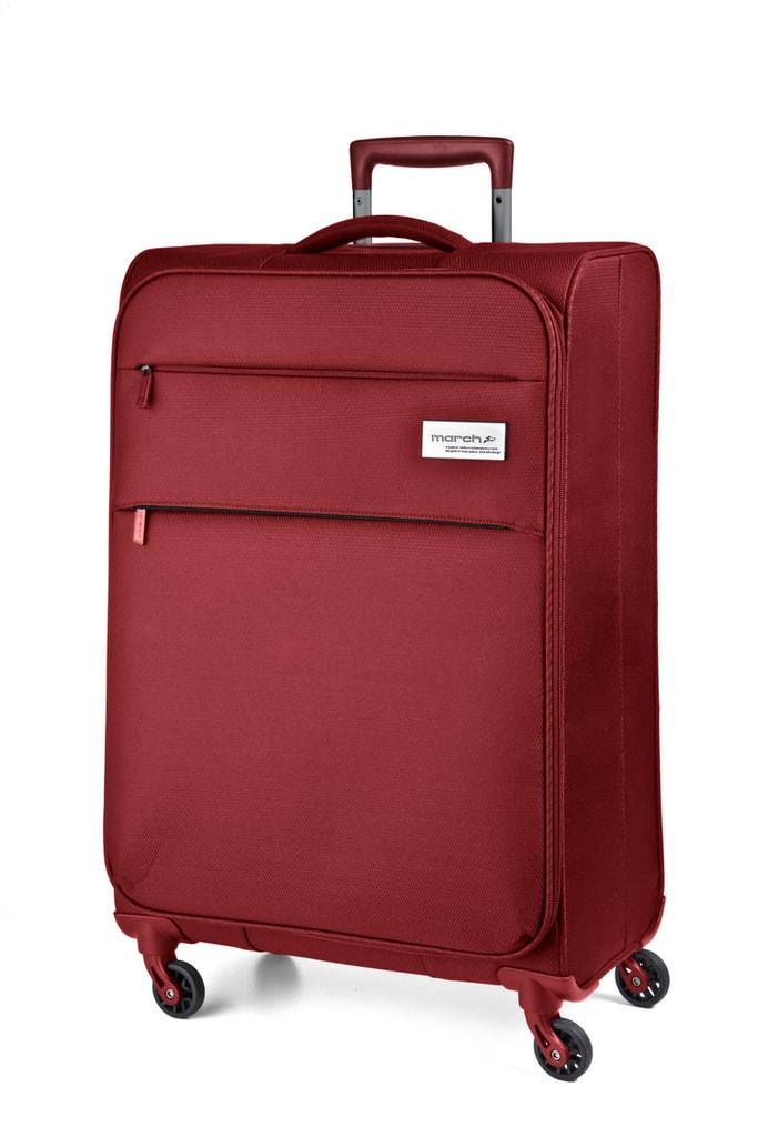 March Kabinový cestovní kufr Polo 34,5 l - červená
