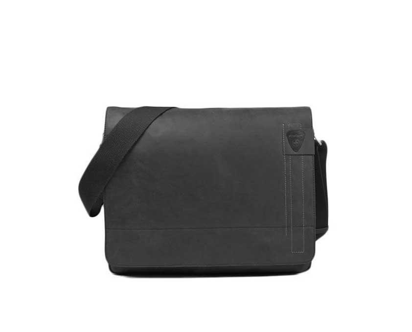 Strellson Pánská kožená taška přes rameno Richmond 4010001163, černá