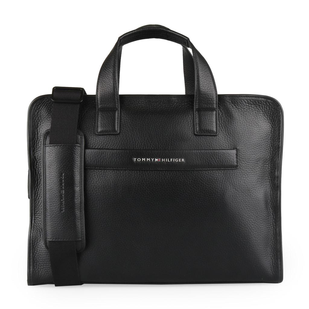 Tommy Hilfiger Pánská kožená taška přes rameno Elevated AM0AM03596 - černá