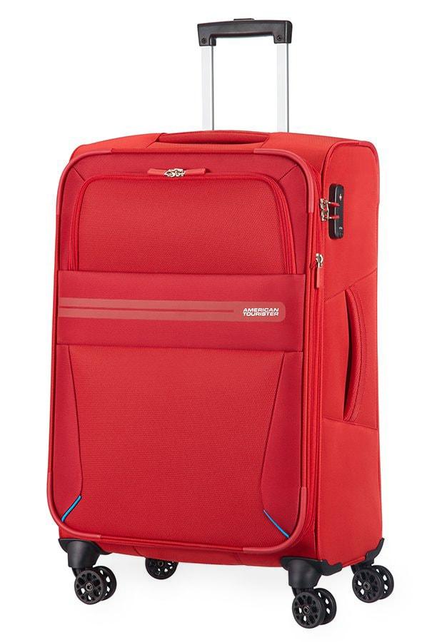 American Tourister Cestovní kufr Summer Voyager Spinner EXP 29G 67,5/76 l - červená