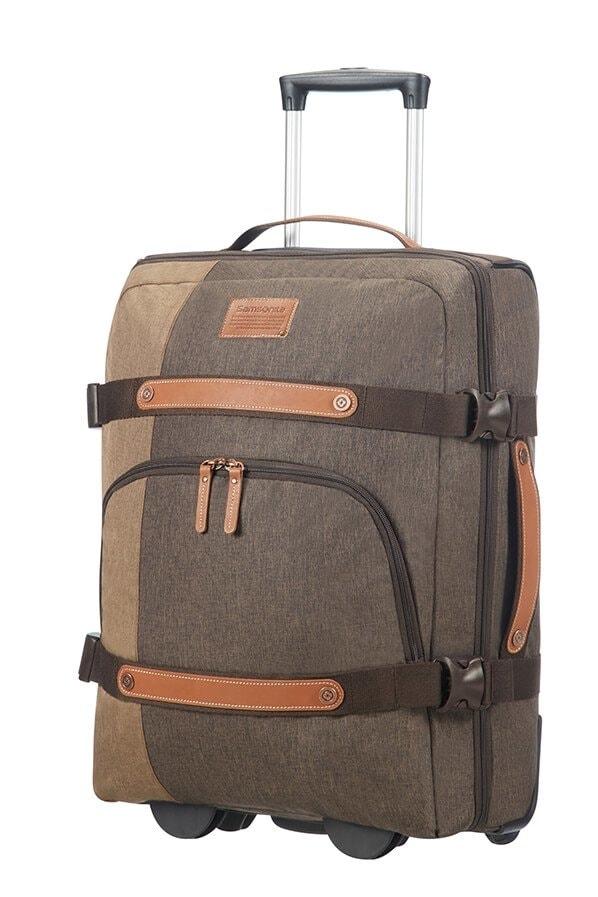 Samsonite Cestovní taška na kolečkách Rewind Natural 45 l - šedá