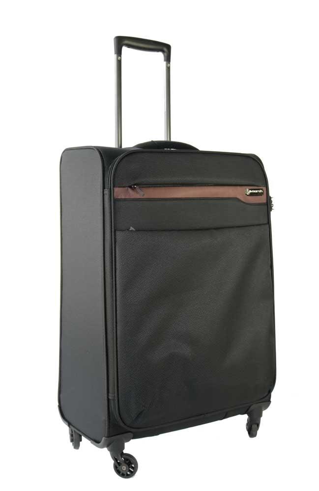 March Střední cestovní kufr Lite 79 l - hnědá