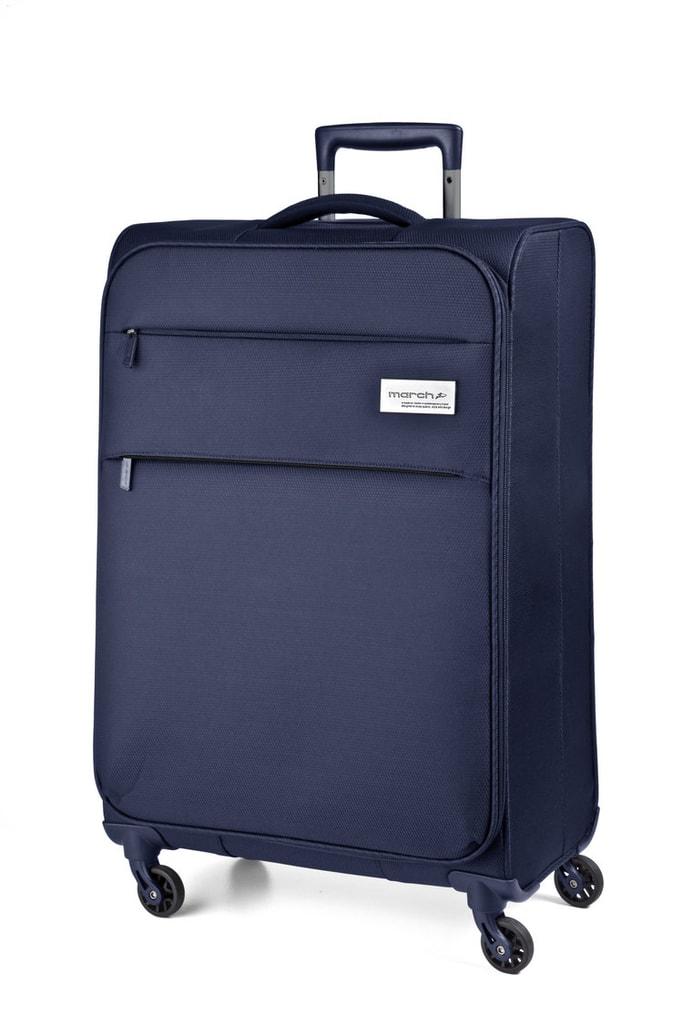 March Kabinový cestovní kufr Polo 34,5 l - modrá
