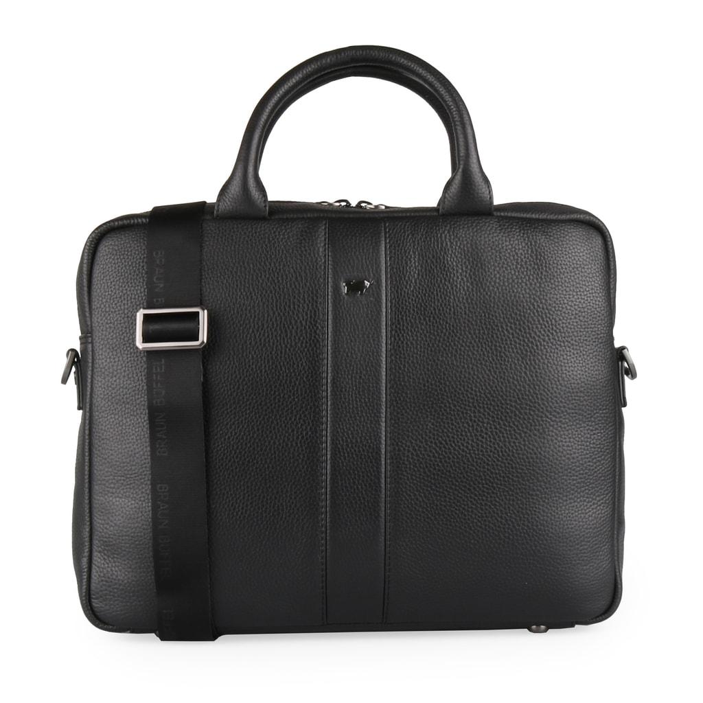 Braun Büffel Pánská kožená taška na notebook Turin 60120S-648 - černá