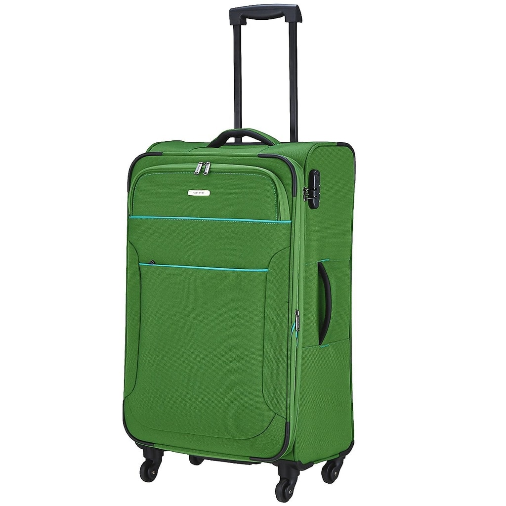 Travelite Cestovní kufr Derby 4w L Green 84149-80 84/96 l