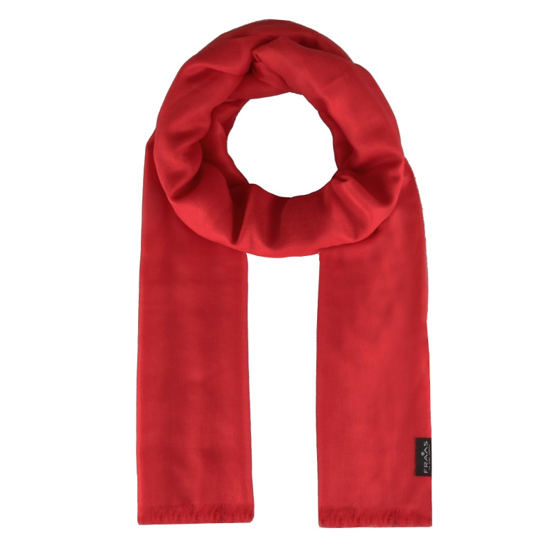 Fraas Dámský obdélníkový kašmírový šátek 658045 - červená 4d6d669860