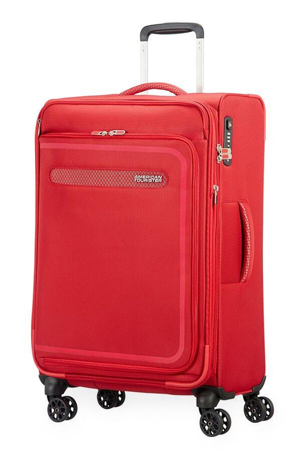 American Tourister Cestovní kufr AirBeat Spinner EXP 45G 69,5/75 l - červená