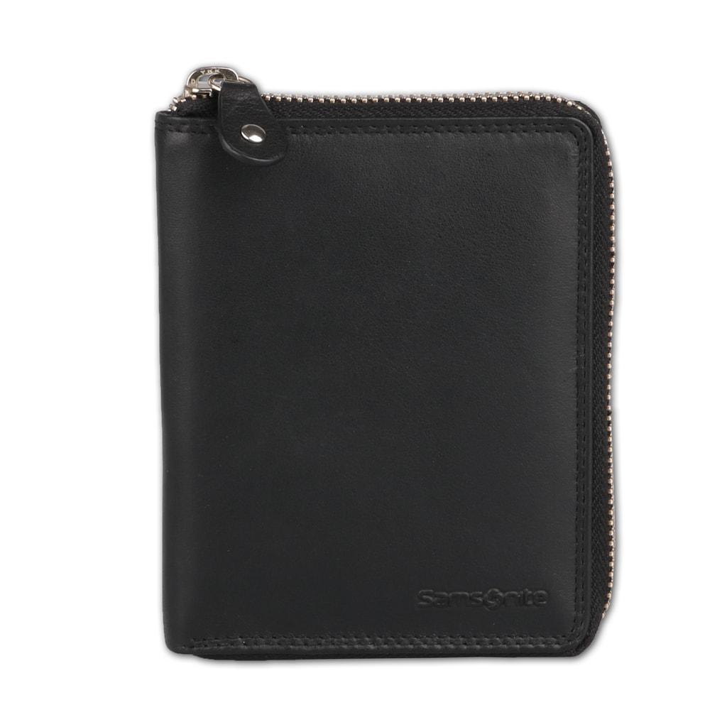 Samsonite Pánská celozipová kožená peněženka Attack SLG 60U-007-09, černá