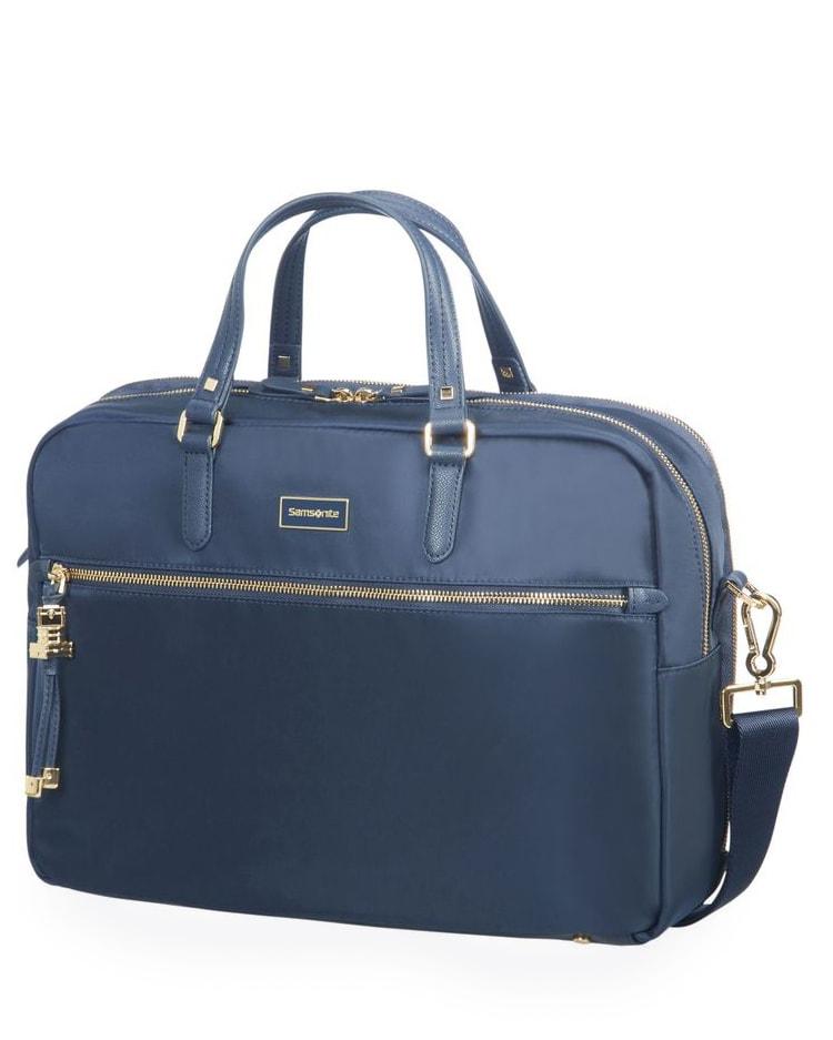 "Samsonite Dámská taška na notebook Bailhandle 2 Comp Karissa Biz 15.6"" - tmavě modrá"