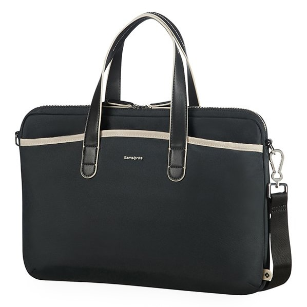 "Samsonite Dámská taška na notebook Nefti 15.6"" - černá/béžová"