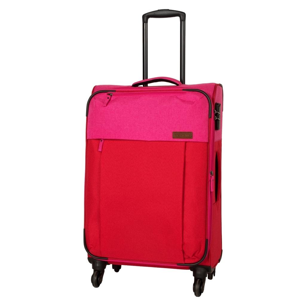 Travelite Cestovní kufr Neopak 59/69 l P38372 růžová, červená
