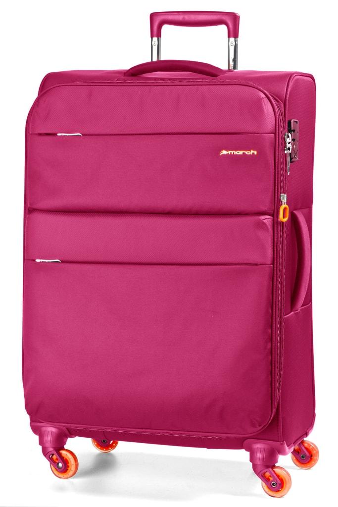 March Cestovní kufr Elle 100/117 l - růžová