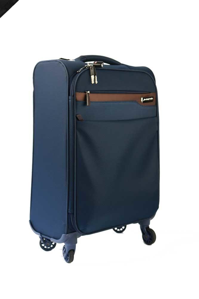 March Velký cestovní kufrm Lite 107 l - modrá