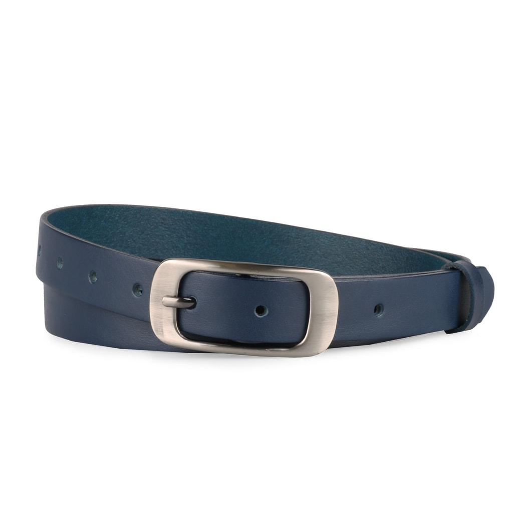 Penny Belts Dámský kožený opasek 173 - modrý