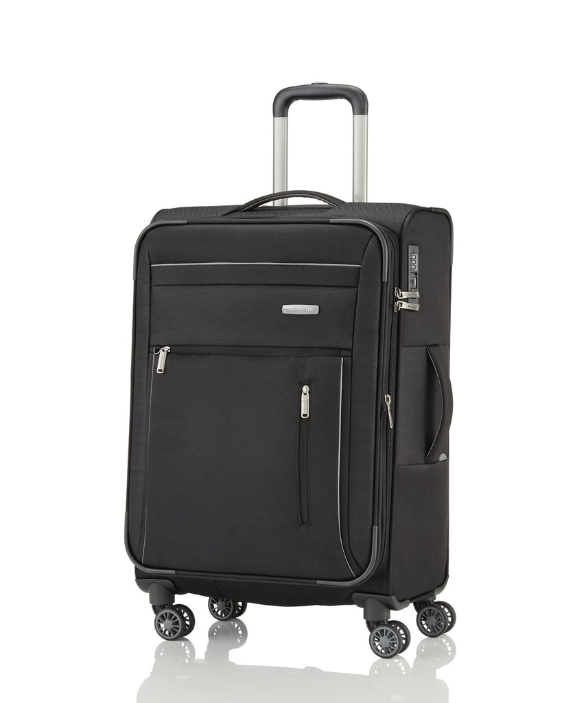 Travelite Cestovní kufr Capri 4w Trolley 67/77 l - černá