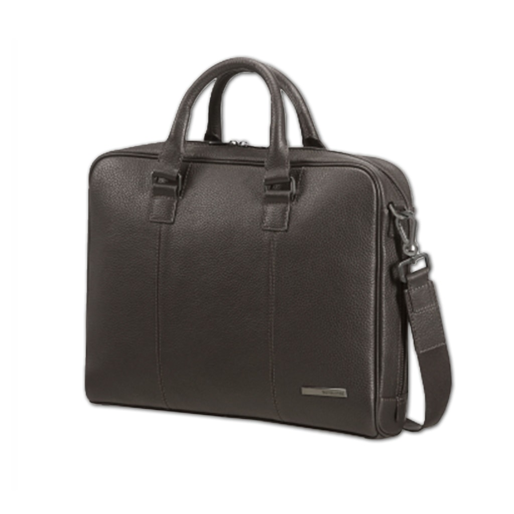 """Samsonite Pánská taška na notebook 14,1"""" Equinox 72D-002 - tmavě hnědá 72D-002-07"""