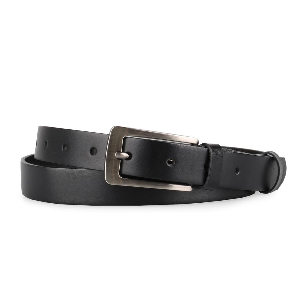 Penny Belts Dámský kožený opasek 176 - černý