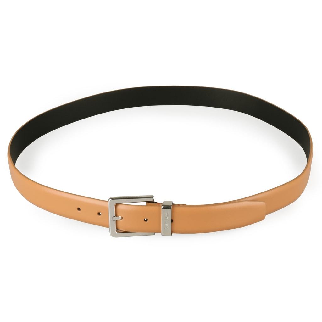 Pánsky kožený opasok Metal Loop K50K504487 - Calvin Klein - Pánske ... aeec96790b7