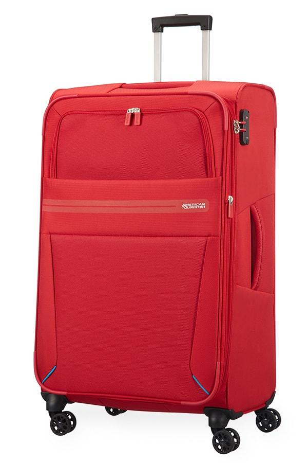 American Tourister Cestovní kufr Summer Voyager Spinner EXP 29G 112/123 l - červená