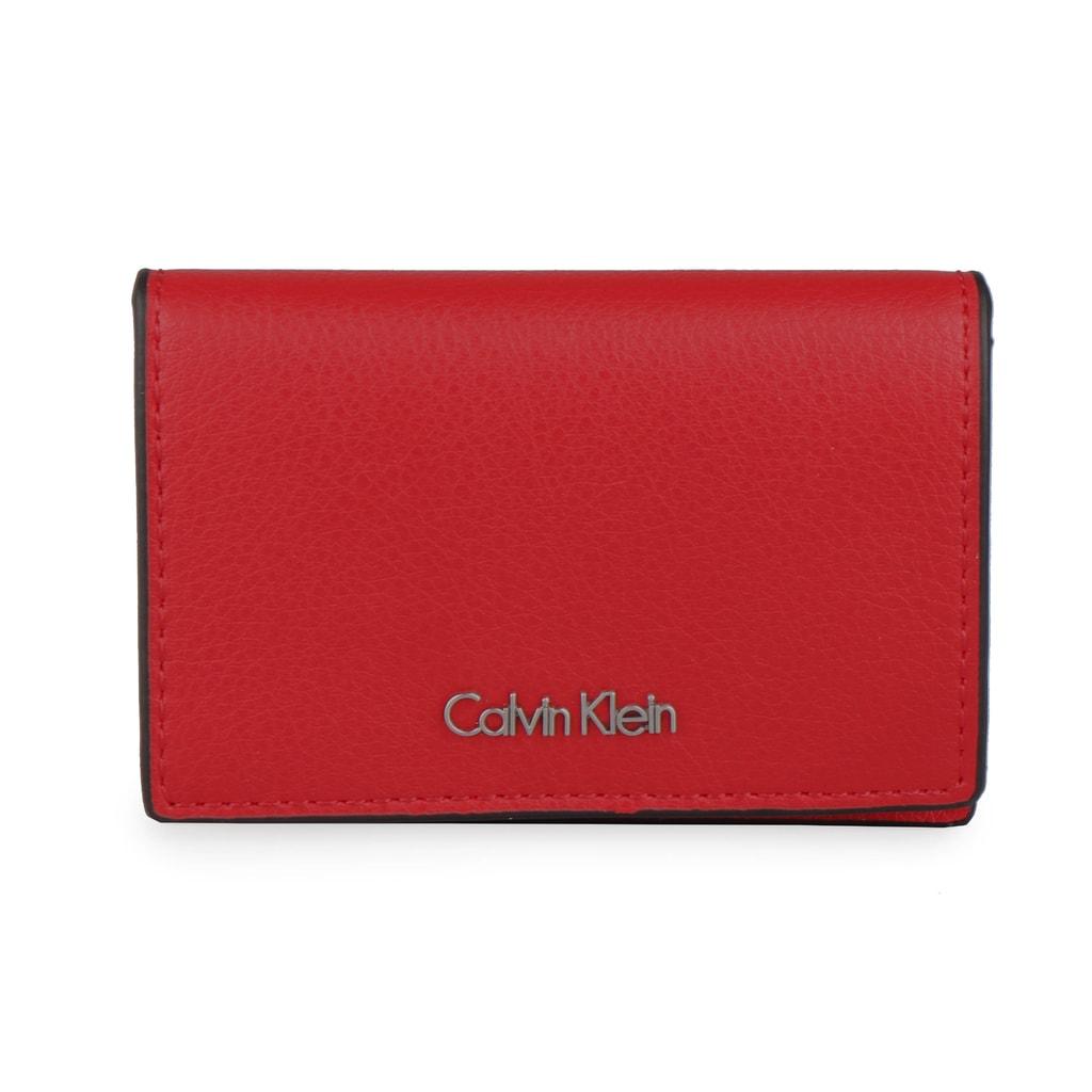 Calvin Klein Pouzdo na karty Frame K60K603931 - červená
