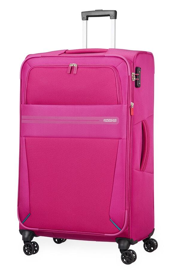 American Tourister Cestovní kufr Summer Voyager Spinner EXP 29G 112/123 l - růžová