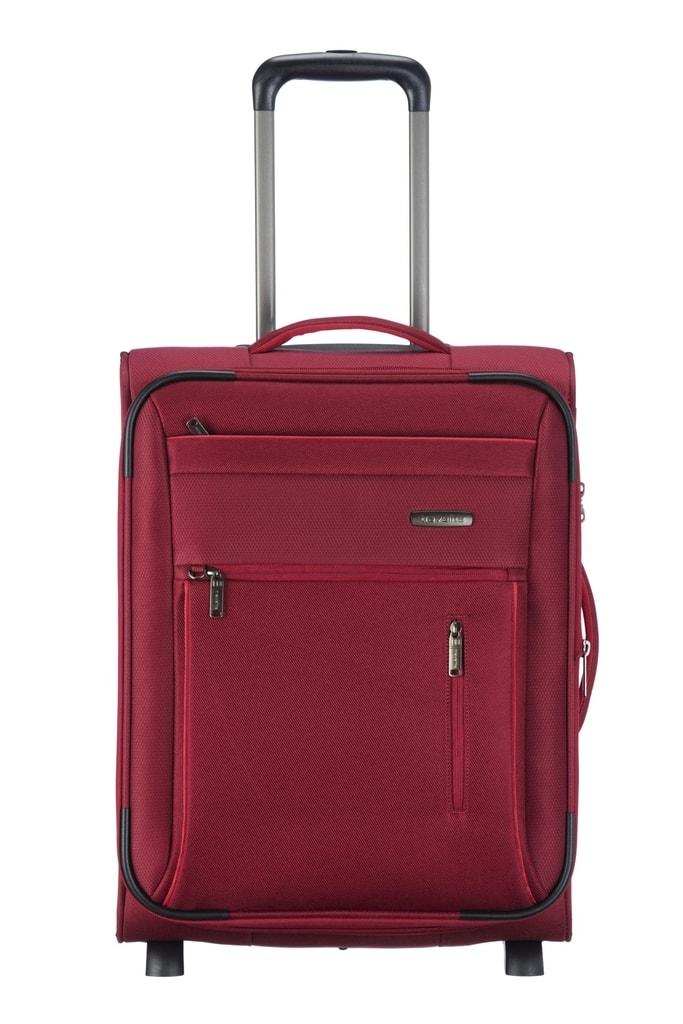 Travelite Kabinový cestovní kufr Capri 2w S Red 41/50 l