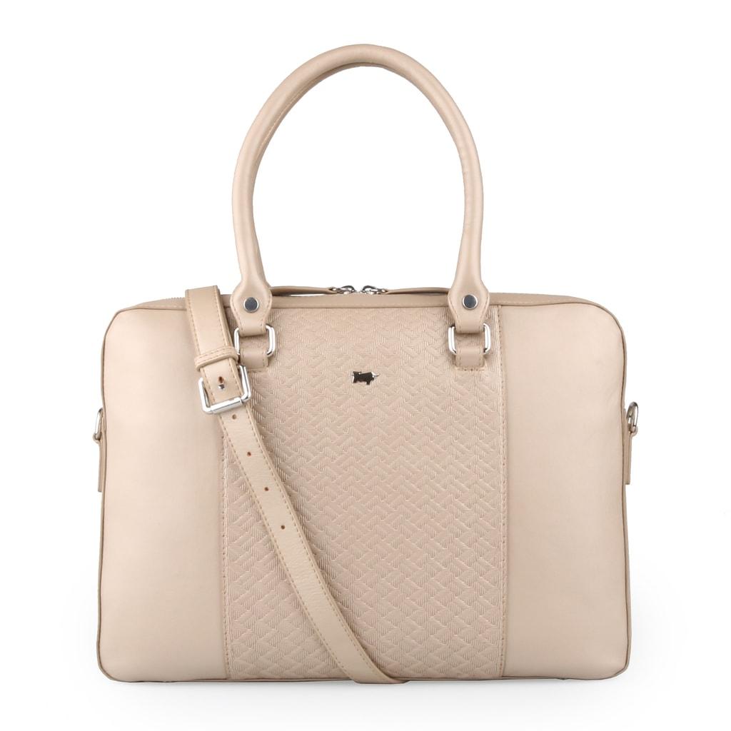 Braun Büffel Dámská kožená taška na notebook Salerno 47563 - béžová