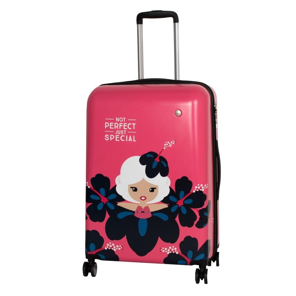 Travelite Cestovní kufr Lil' Ledy 4w M hardcase Coral 74248-88 76/87 l