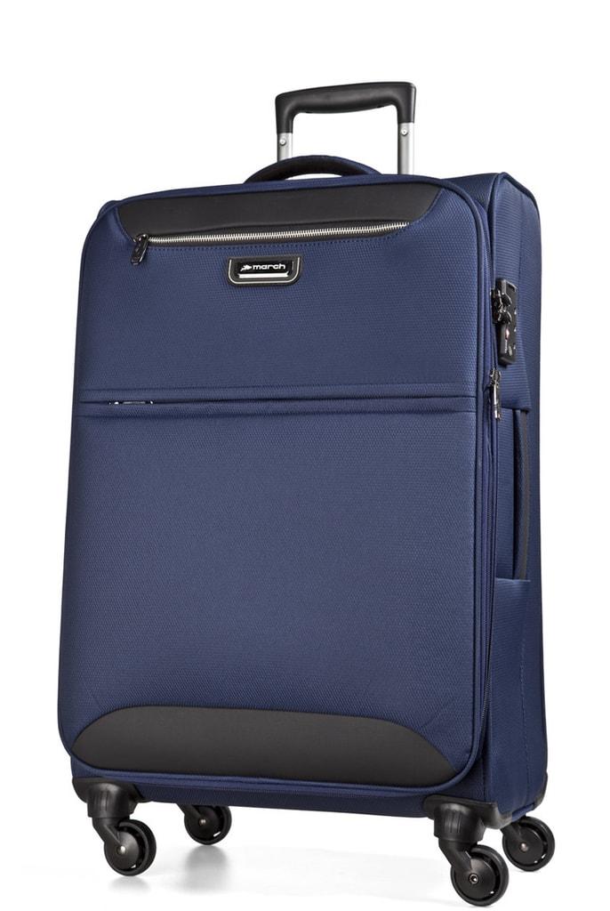 March Cestovní kufr Flybird 67/80 l - tmavě modrá