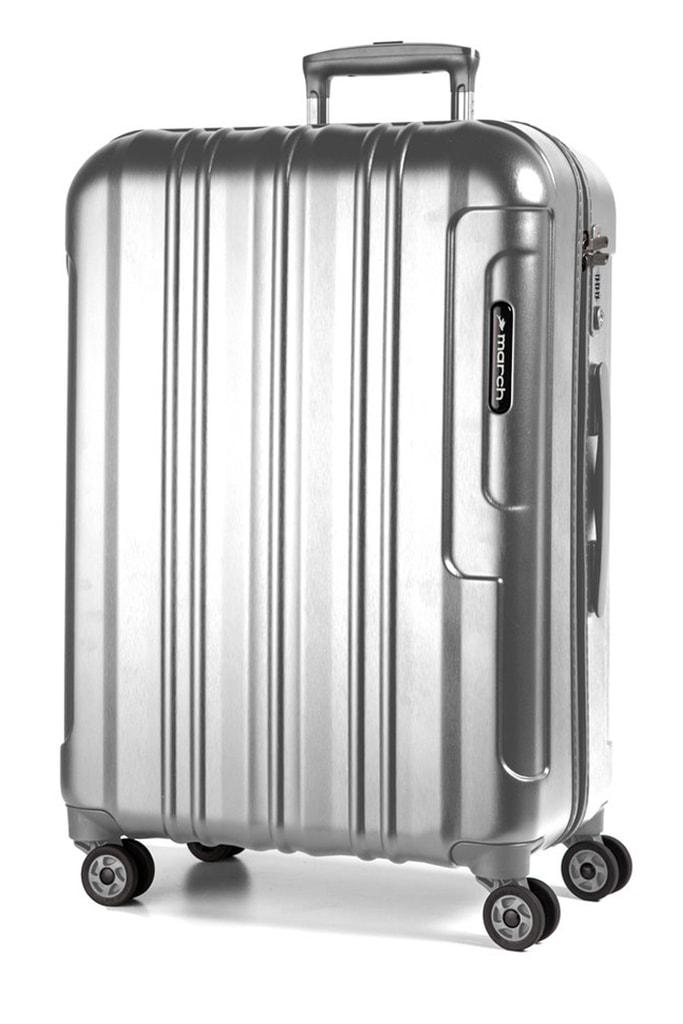 March Cestovní kufr Cosmopolitan Special Edition 115 l - stříbrná