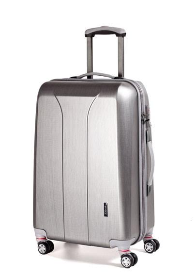 March Střední cestovní kufr New carat 76 l - stříbrná