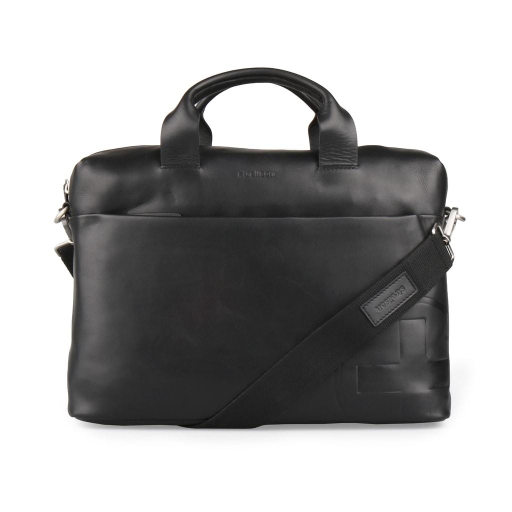 Strellson Pánská kožená taška přes rameno Jones 4010002359 - černá ed792dfe44e