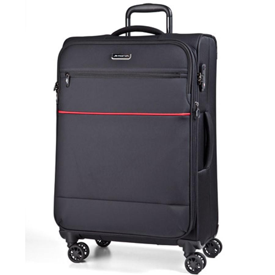 March Velký cestovní kufr Easy 104 l - černá